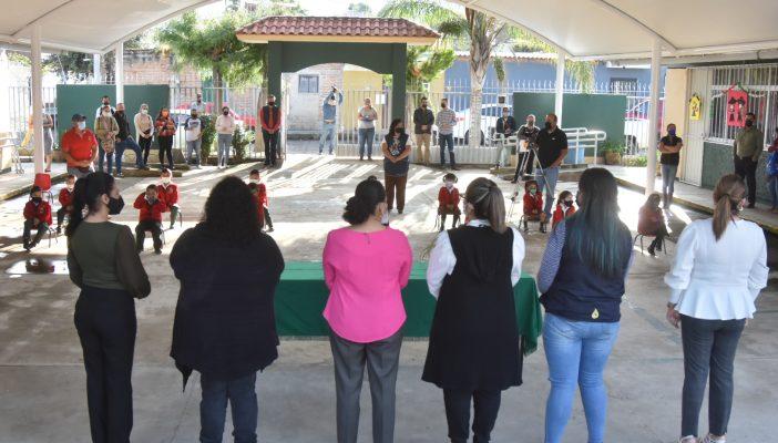 Inauguran Domos Escolares en Jardines de Niños de Zapotlán